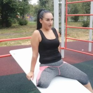 Amputee Katrina: Stump gym! Outside Video!