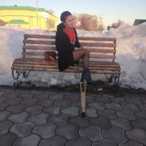 Amputee Margarita: Preparing to be your…pantyhose queen!