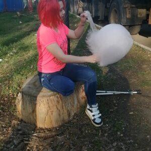 Amputee Alice: Stumpy jumpy! Trampoline clip!
