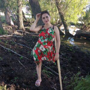 Amputee Margarita! Stumpy at the river!